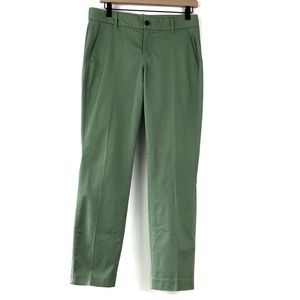 J Crew Factory Frankie Chino Green Ankle Pants
